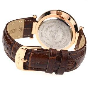 Image 3 - Julius Homme reloj de cuarzo japonés para hombre, reloj Retro de moda, de cuero, regalo de cumpleaños, Navidad padre, 059