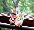 Новый китайский новорожденных девочек холст обувь лето цветок ног мягкая обувь свободного покроя обуви мальчиков кроссовки детей для 1 2 3 года