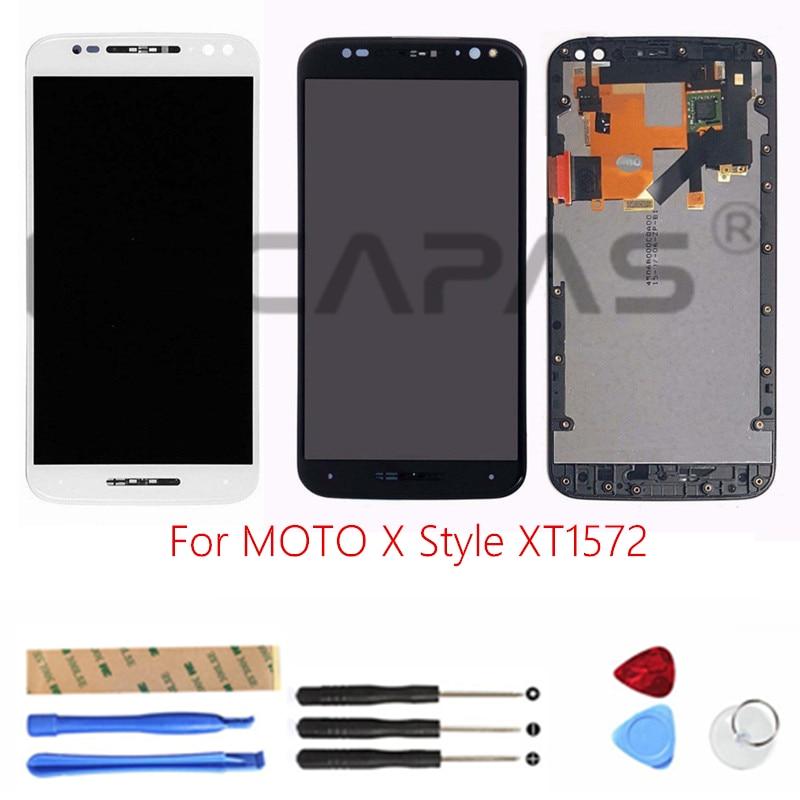 LCD Display mit Rahmen für Moto X Stil XT1572 Touchscreen Panel für ...