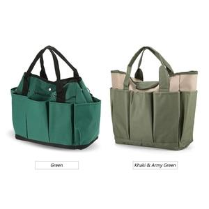 Image 5 - Bahçe alet çantası açık araçları Oxford kumaş bahçe kare kutu tipi çanta için bahçe aracı kiti açık araçları