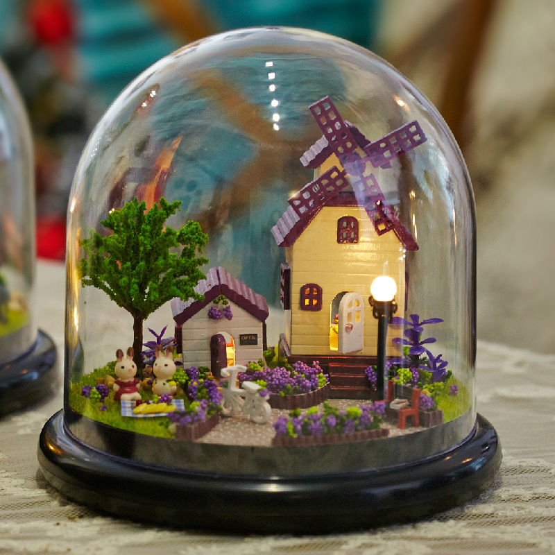 Кукольный дом включают Мебель миниатюрный 3D Пазл деревянный кукольный домик miniaturas Куклы для дома подарки на день рождения Игрушечные лошад...