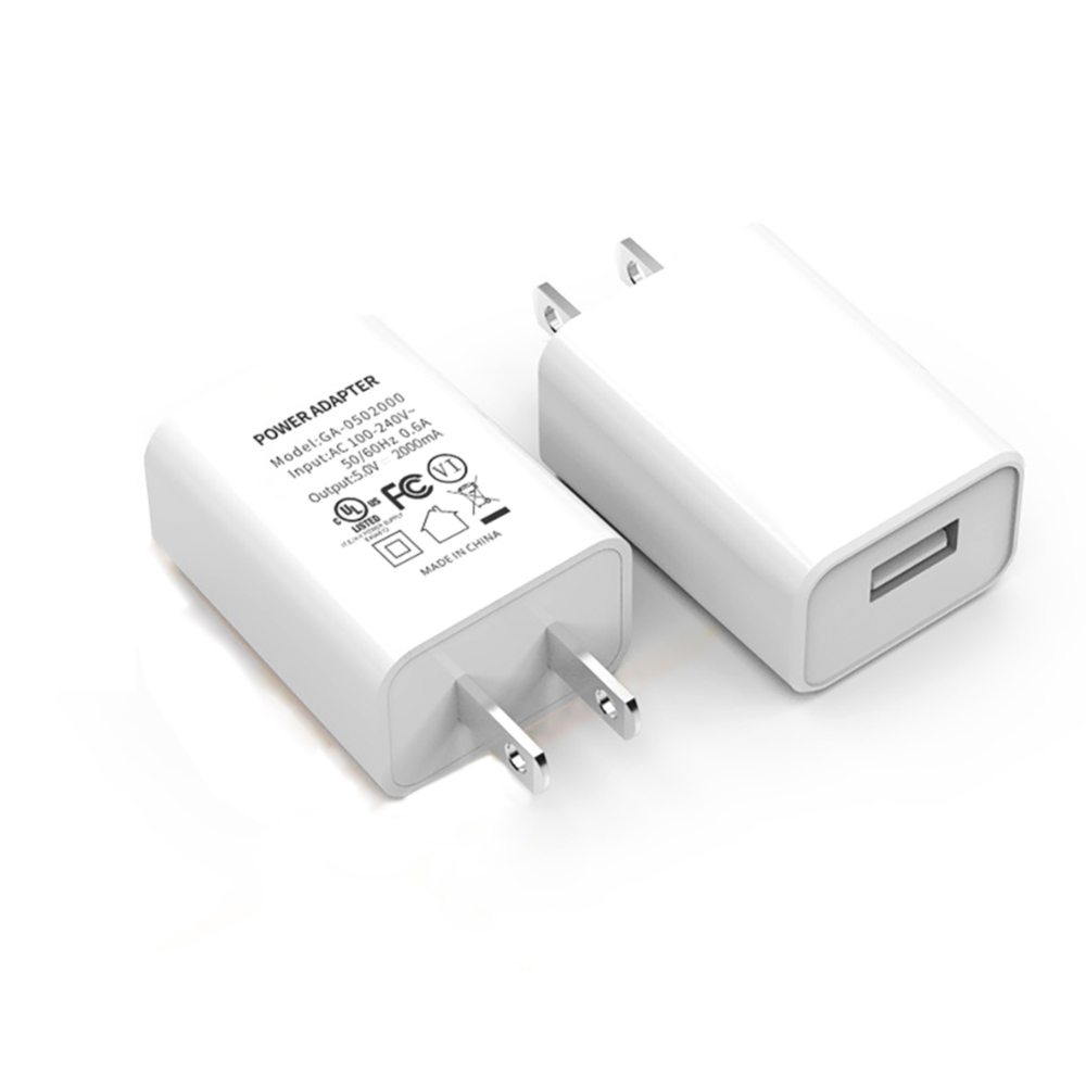 Fast charge <font><b>5V</b></font> 2A <font><b>USB</b></font> <font><b>Wall</b></font> Power Adapter <font><b>Charger</b></font> 2 PIN US Plug For Smart Mobile Phone for iPhone Samsung Xiaomi Huawei image