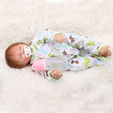 2018 Newest 19 Inch Reborn Baby Doll kids Play house DIY Gift Accompany Girl's favorite big gift baby alive brinquedos bebek LOL(China)