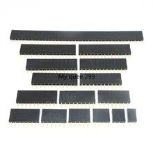 2,54mm fila única hembra tira de conectores de pines conector 2 3 4 5 6 7 8 9 10 11 12 13 14 15 16 17 18 19 20 22 24 25 40 Pin