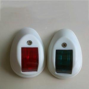 Image 1 - 1 zestaw czerwony zielony Port na prawą burtę światła 12 V łódź morska nawigacji LED żegluga z lampka sygnalizacyjna