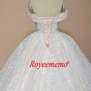Image 5 - 新夜会服のウェディングドレス光沢のあるウェディングドレスカスタムメイド工場卸売価格ロイヤル電車ブライダルドレス