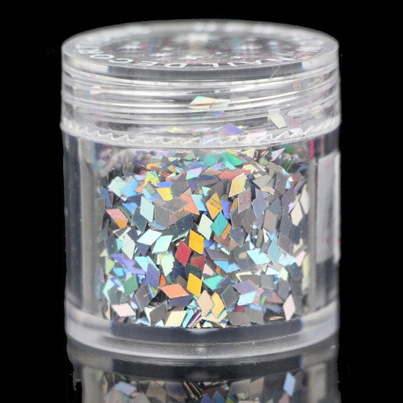 Holographic Nail Glitter 1 Caja Diamond Nails Glitter Manicure - Arte de uñas - foto 3