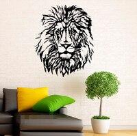 משלוח חינם האריה בעלי חיים חתול גאווה אפריקאי פראי מדבקות ויניל מדבקות קיר אמנות תפאורה חדר שינה ציורי עיצוב פנים הבית