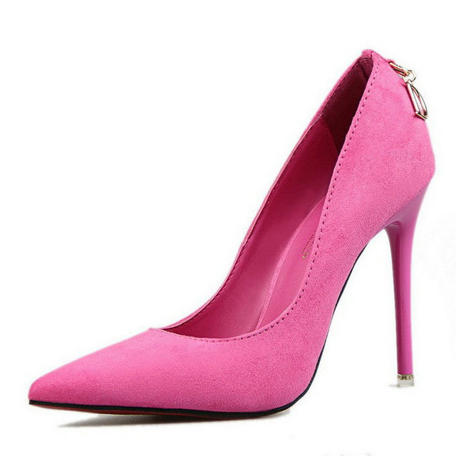 Mulheres Bombas de Marca Mulheres Sapatos de Salto Alto Sexy Dedo Apontado Fundo Vermelho Casamento Sapatos de Salto Alto Zapatos Mujer