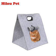 New Non Woven Fabric Multi-functional Pet Dog Cat Bed Bags Outdoor Travel Pet Carrier Handbag