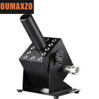 Светодиодный CO2 легко регулируемый угол пушки машина вечерние DMX Управление 12 шт. RGB 3in1 Co2 Jet крио 12x3 вт полный Цвет светодиодный 5 м газовый шл