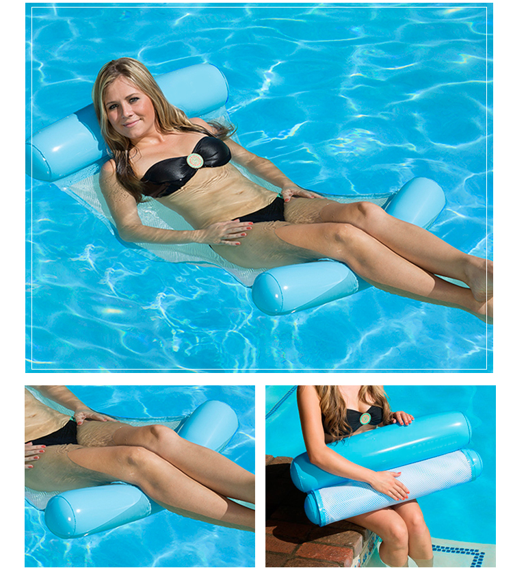 Inflatable Float Hammock, Portable Rafts And Sling Mesh Sofa Bed Or Chairs In Swimming Pool Float Lounge For Adults And Kids
