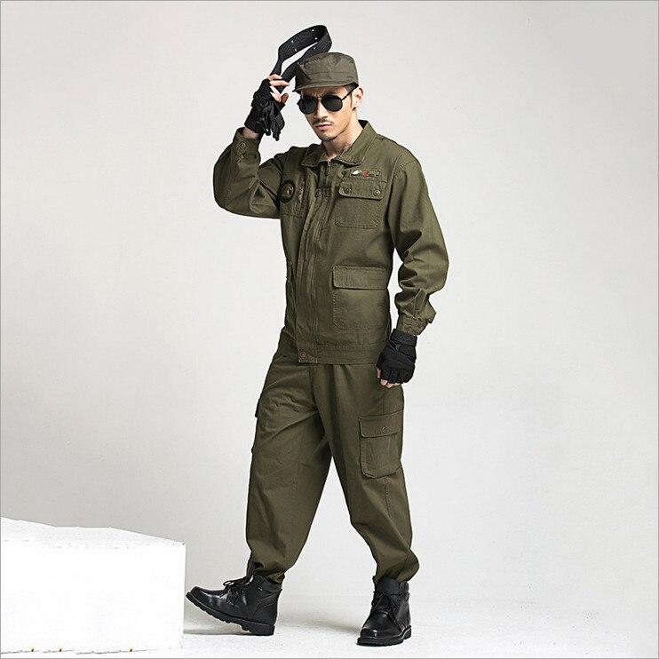 2018 Wholesale Military Uniform Working Outfit Suit Army Paintball Equipment Military Combat Uniform Sets Work Wear Set