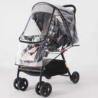 Acessórios de carrinho de criança à prova dwaterproof água capa de chuva transparente vento poeira escudo zíper aberto para carrinhos bebê carrinhos carrinhos de chuva