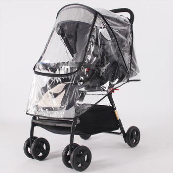 Stroller Accessories Waterproof Rain Cover Transparent Wind Dust Shield Zipper Open For Baby Strollers Pushchairs Raincoat babyrule baby stroller accessories universal waterproof rain cover wind dust shield for strollers pushchairs stroller buggy