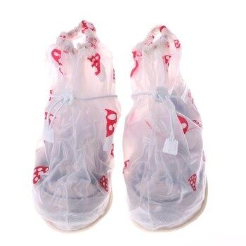 Eykosi 2017 niños niña Niños raining impermeable Botas Zapatos cubierta desgaste anti deslizante reutilizable Impresión de setas lindo pequeño