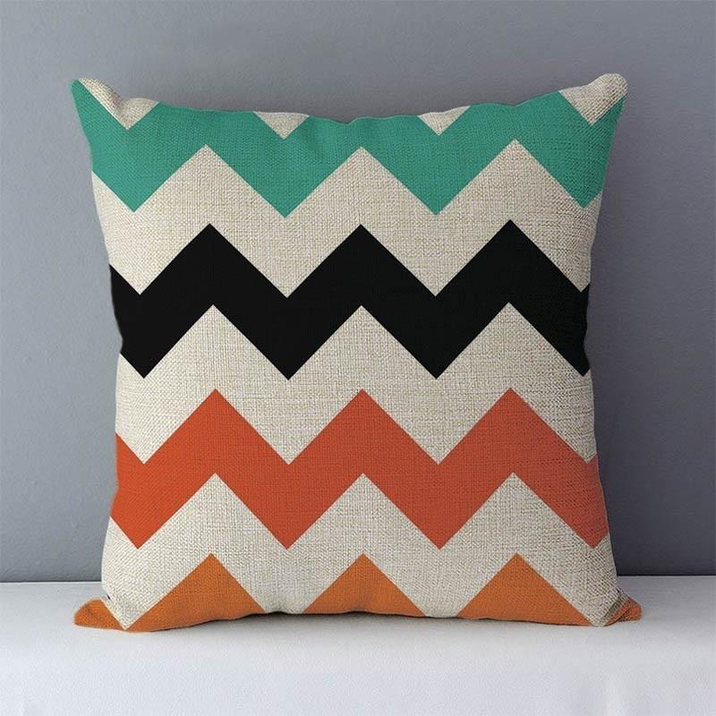 HTB1JhejXcnrK1RjSspkq6yuvXXaC Quality Cozy Popular geometric couch cushion home decorative pillows cotton linen 45x45cm seat back cushions bedding pillowcase