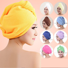 1pcs  Microfibre After Shower Hair Drying Wrap Womens Girls Ladys Towel Quick Dry Hair Hat Cap Turban Head Wrap Bathing Tools
