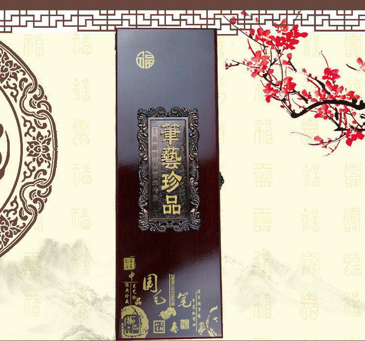 2016 High quality Chinese Traditional woolen writing brush  painting calligraphy pen gift box suit chinese traditional high quality detachable single pipe cross bblown flute bawu ebony ba wu key of g f c bb