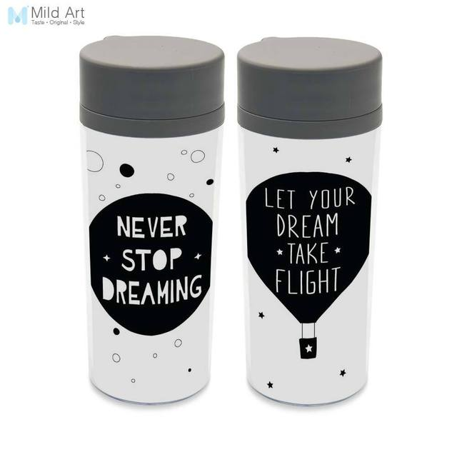 Water Bottle Quotes Wide Mouth 300ml Kids Water Bottles Black White Star Inspire  Water Bottle Quotes