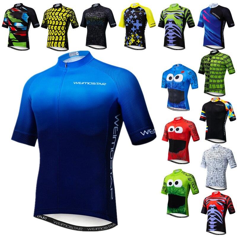Weimostar 2019 Zomer Korte Mouw Pro Wielertrui Mannen MTB Fiets Shirt Maillot Ciclismo Racing Sport Racefiets Jersey Top
