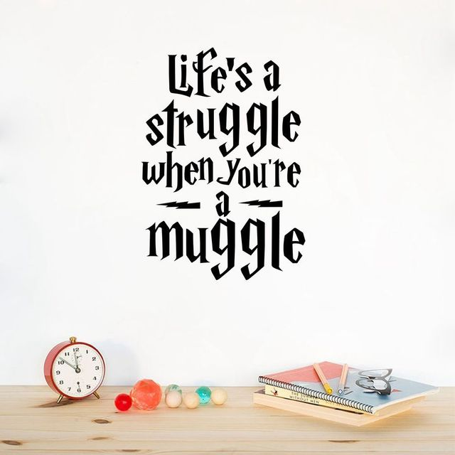 Q041 Life Is a Struggle...Harry Potter Quotes Wall Sticker ...