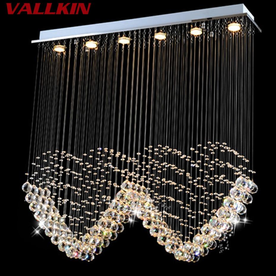 Moderní obdélníkový křišťálový LED lustr přívěsek restaurace Ložnice vchod chodba křišťálový lustr svítidla
