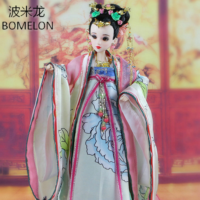 High-end Handmade Chinese Dolls Tang Beauty LUHE Ancient Costume Bjd Jointed Doll Girl Doll Articulated Kids Toys Girls Gift