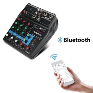 Image 3 - A4 4 ערוצים אודיו מיקסר קול ערבוב קונסולה עם Bluetooth USB שיא 48V פנטום כוח צג נתיבים בתוספת אפקטים