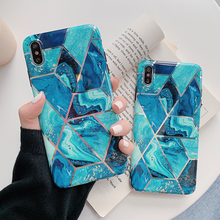 Foil Geometric Marble  Phone Cases For iPhone XR XS Max 6 6S 7 8 Plus X