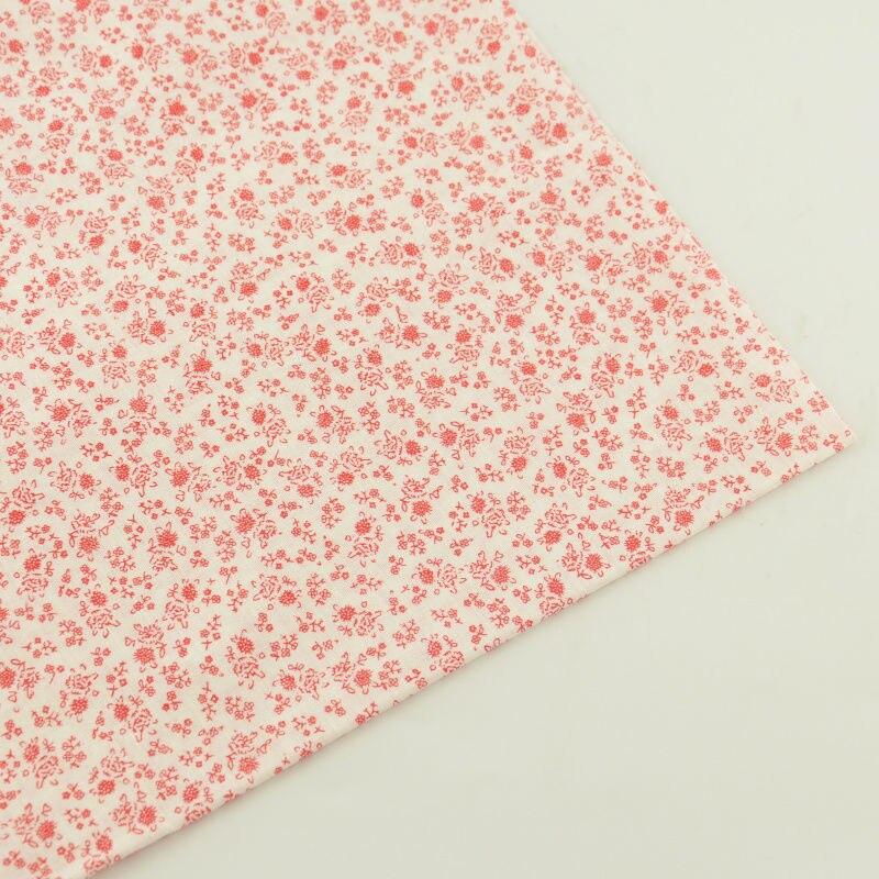 Nuevas Llegadas Tecido Quarter Tela de Algodón Fat Impreso Flores Rojas y Hojas