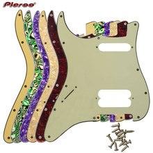 Детали для гитары Pleroo-для левой руки FD, США, 72 ', 11 отверстий для винтов, Стандартный начальный проигрыватель, хамбакер Hs, Накладка для гитары, ...