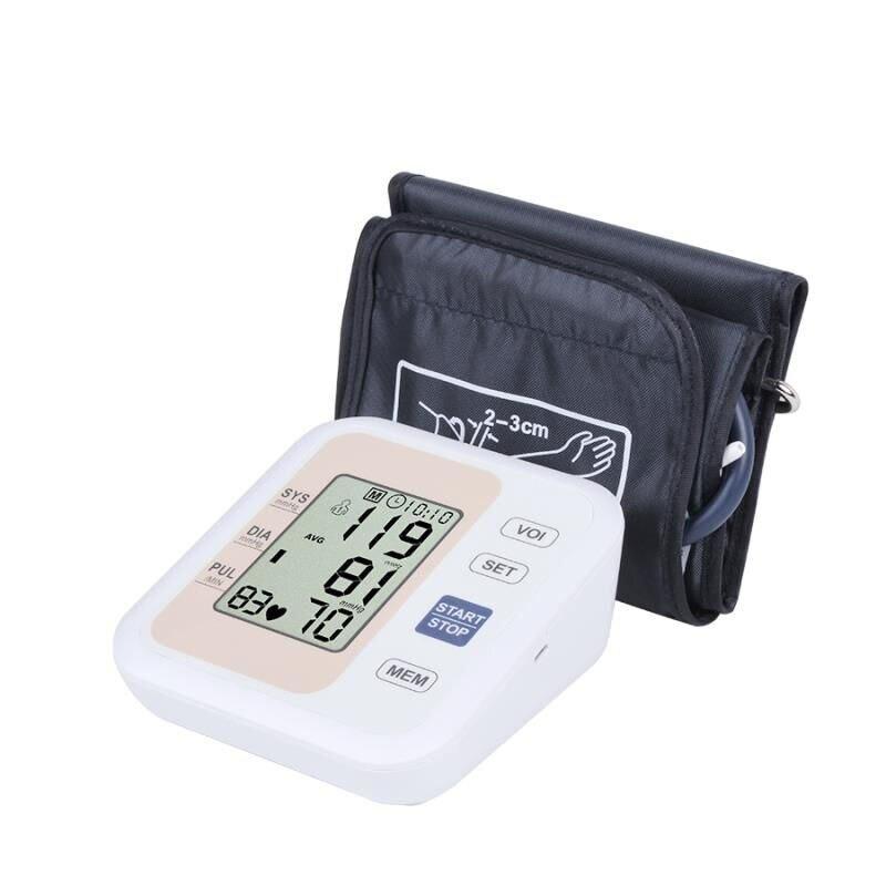 Tensiomètre tensiomètre automatique bras tensiomètre bras sphygmomanomètre électronique diffusion phonétique anglaise