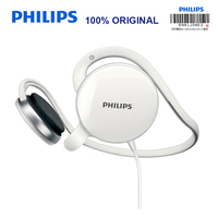 Philips SHM6110U Post Hanging Headset With Microphone Support Music Movie Game For Computer Mobile Phone Official