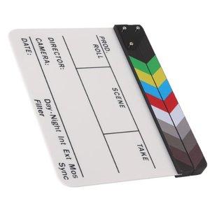 Image 3 - Yönetmen Video sahne klaket klaket kurulu akrilik kuru silme direktörü TV Film Film eylem kayrak alkış el yapımı Cut Prop