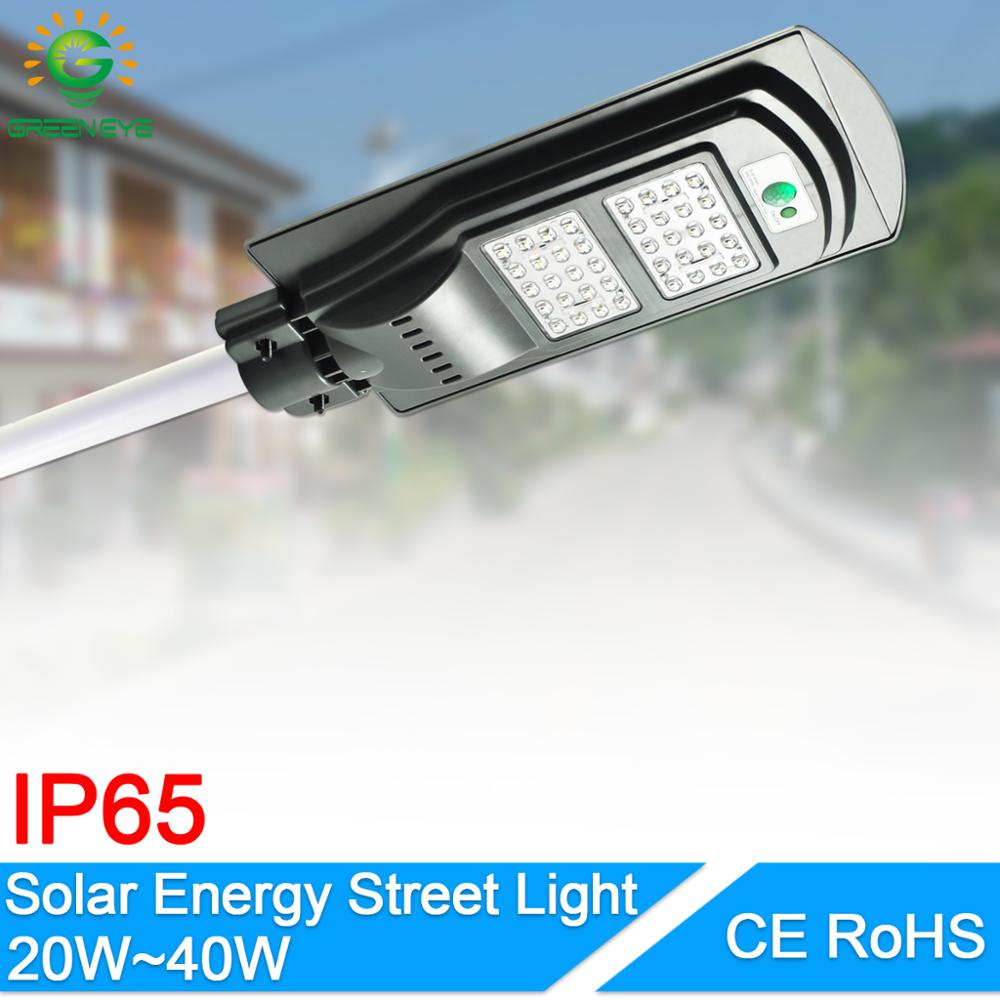 Solar Led Street Light 20W 40W For Home Garden Fence PIR Motion Sensor Detection Wall Lamps Solar Waterproof Led Light Outdoor