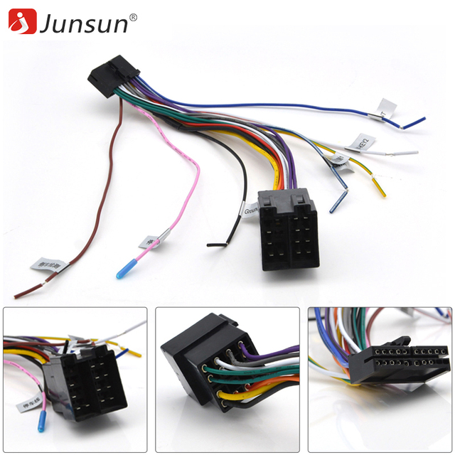universal car cable iso radio wire wiring harness adapter connector car  adaptor plug
