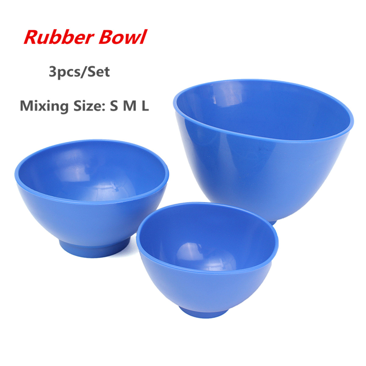 3 PCS Dental Rubber Mixing Bowl Plastic Flexible Medical Lab Silicon Bowl For Oral Hygiene Materials Teeth Whitening Tool plastic