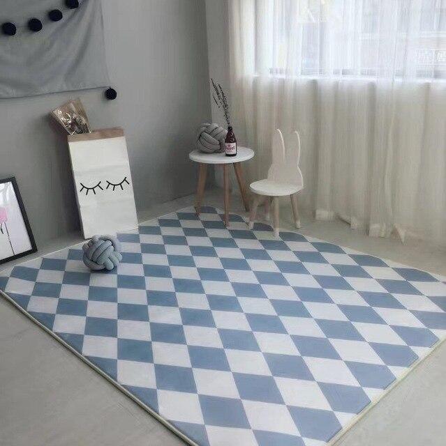 diamond lattice carpet modern style carpets living room bedroom fashion creative coffee table sofa tapete 2 - Tapete Modern