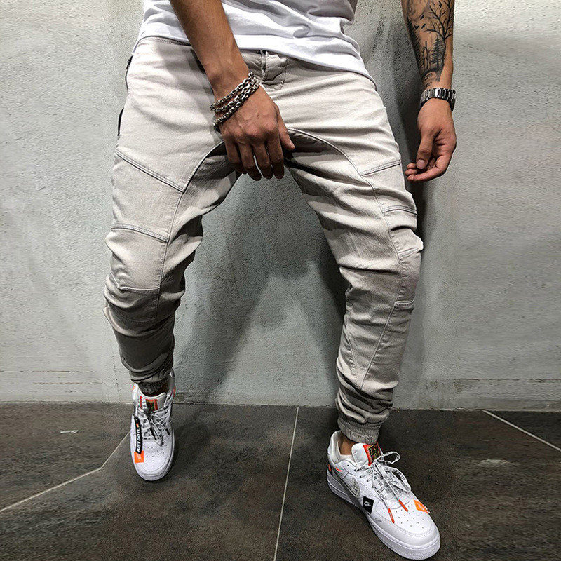 Tracksuit Bottoms Fit-Trousers Joggers-Sweat Drwastring Sports Casual New Hip-Hop Slim