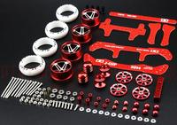 Free Shipping YK1 Modify Parts For Sprinting Meteor Mini 4WD Racing Car Model Aluminum Alloy Wheels