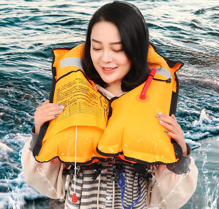Adulte Entièrement automatique gonflable gilet de sauvetage. Portable manuel professionnel gonflable vie gilet chaud-vente!