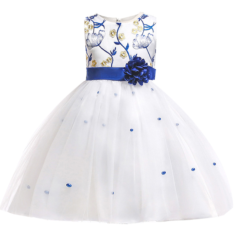 Flower Girl Dress For Wedding Clothes First Communion Princess Dress Baby Costume Ball Gown For Girls Children Clothing L5022