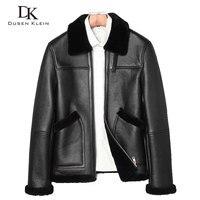 Dusen Klein Brand jacket original ecological fur male leather retro lapel short paragraph fur men's coat winter coat Z17025