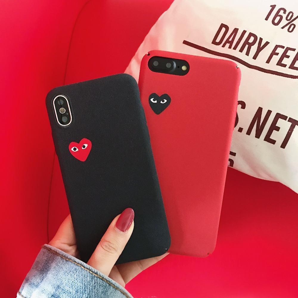 Supre CDG Play Comme des Garcons Hard Matte case for iphone 6 6S 7 plus 8 X Cover for Samsung Galaxy S7 edge S8 NOTE8 S9 plus ...