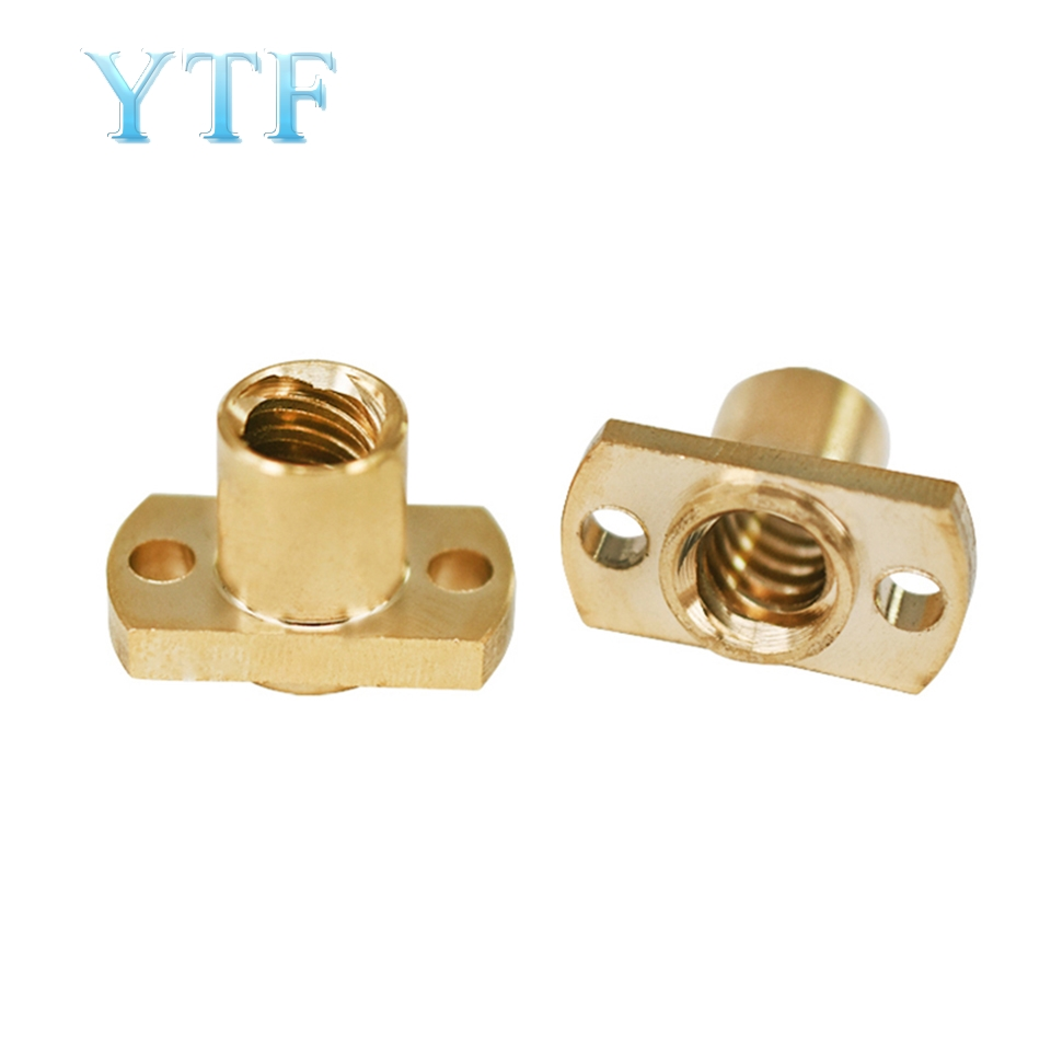 3D Printer Part T8 Screw Nut Pitch 2mm Lead 8mm Brass Nut