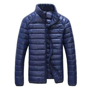 Image 3 - Chaqueta de plumas de pato blanco para hombre, Parkas portátiles ultraligeras, abrigo informal cálido a prueba de viento, prendas de vestir, 5XL, 6XL, 2020