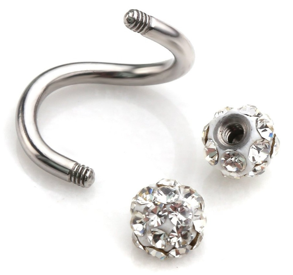 Imixlot 2017 Plugs And Tunnels Steel Stainless Twist Helix Cartilage  Earring Piercing Lots Nose Ring And