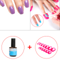 26 Pcs/ Pack 10 Size Nail Gel Model Clip Overflow Prevention Tool + UV Topcoat Top Coat Seal Glue