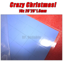Crazy Promotion! 10x 25*25*1.5mm 2.5cm*2.5cm Soft Silicone Thermal Pads for Laptop PC LED Heatsink GPU Chips Thermal Conducitve